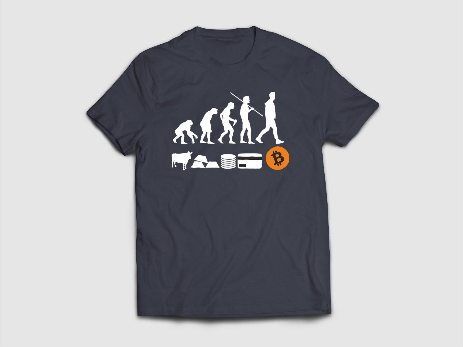 "Крипто тениска ""The Evolution of Money"""